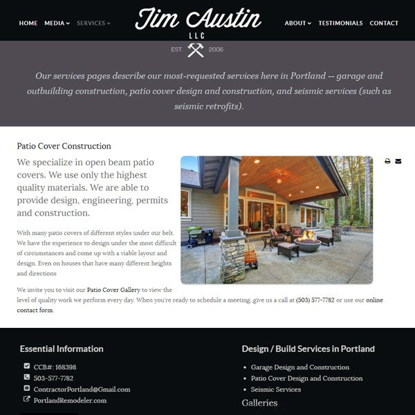 Construction Web Sites